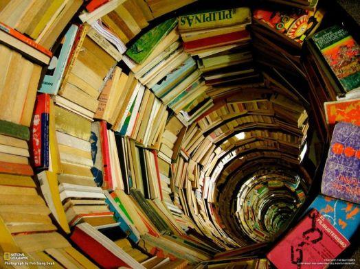 Espiral de libros. Fuente: National Geographic